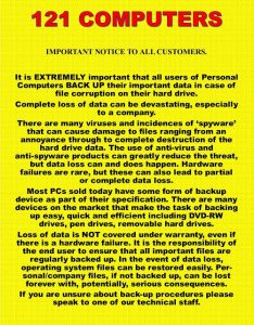IMPORTANT NOTICE TO ALL CUSTOMERS